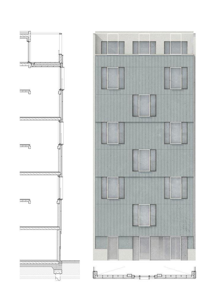 Vernacular Facade. Flexible Cooperative Housing in Hackney Wick.  Karabo Turner, Diploma Unit 7 Cass