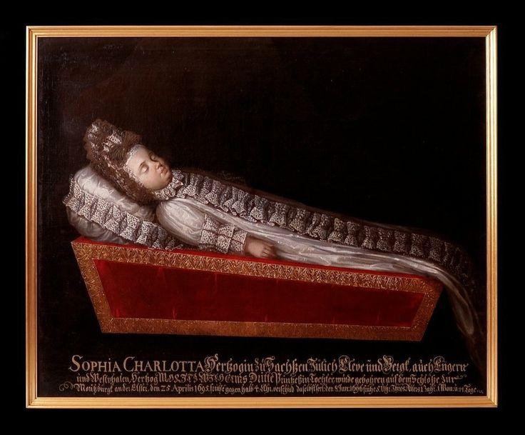 Totenbildnis der Prinzessin Sophia Charlotta von Sachsen-Zeitz (1695-1696)