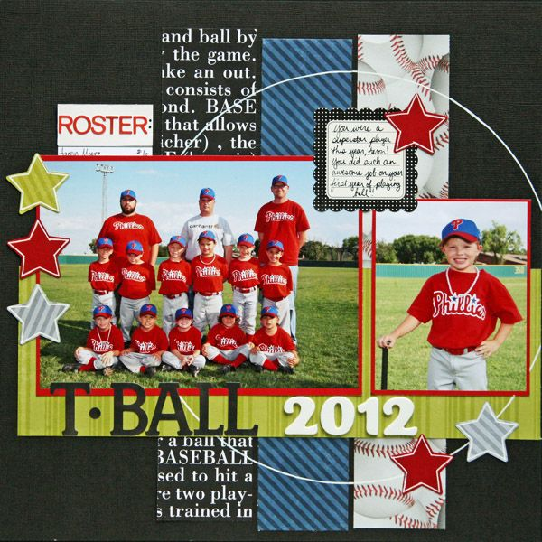 T-Ball 2012 - Scrapbook.com  could use for soccer as well