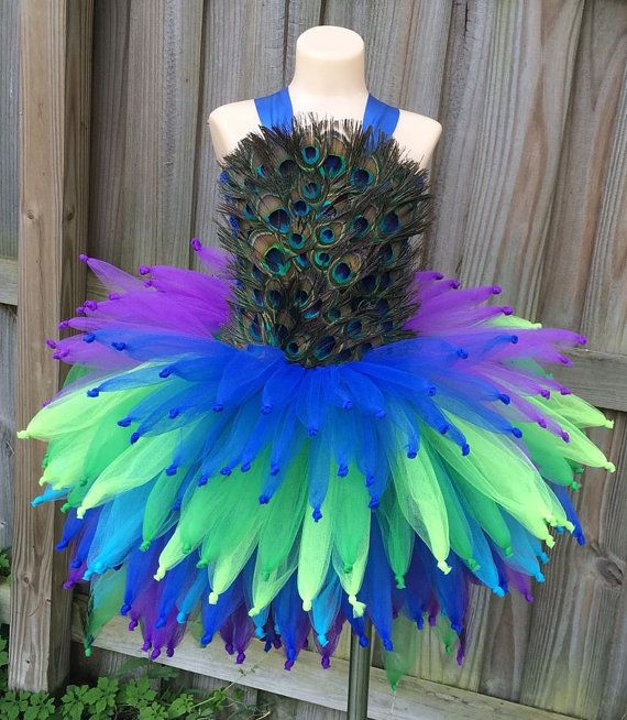 Peacock tutu/ peacock tutu dress/ Feather by JosieJosHeadbands