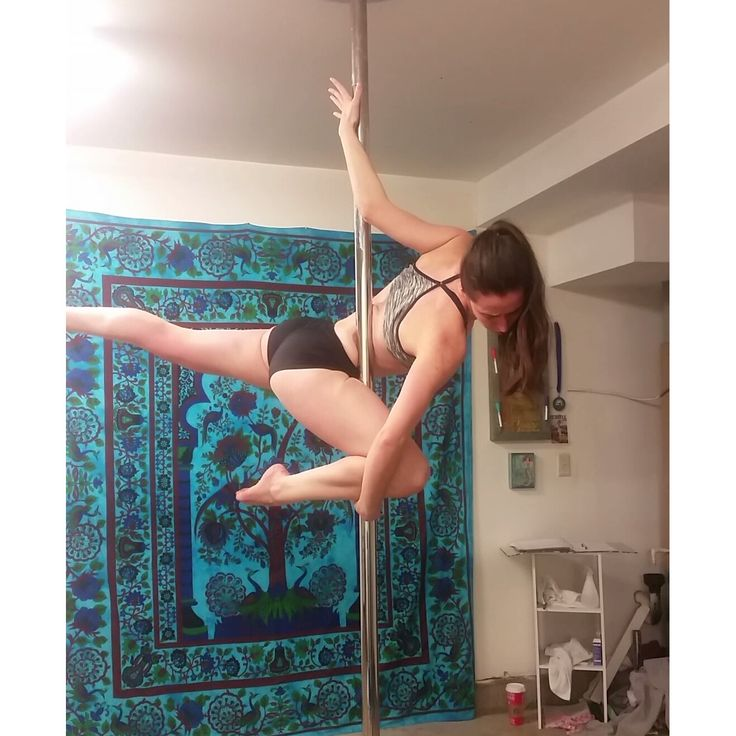 Pole Dance trapped plank. -Erin I'nama