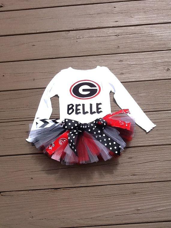 Girls game day Tutu & shirt set. Black white by EverythingSorella, $52.50