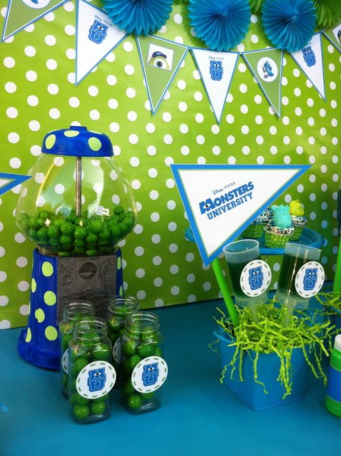 More Monsters University party ideas.