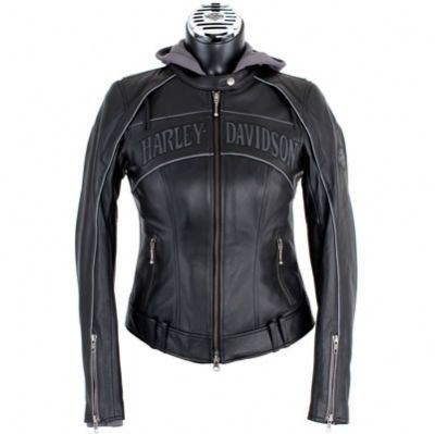 harley davidson clothing for women | ... Skull 3-in-1 Leather Jacket - Harley Davidson Womens, 98152-09VW/000L