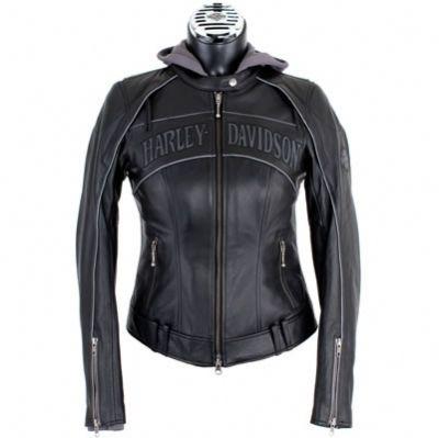 harley davidson clothing for women   ... Skull 3-in-1 Leather Jacket - Harley Davidson Womens, 98152-09VW/000L