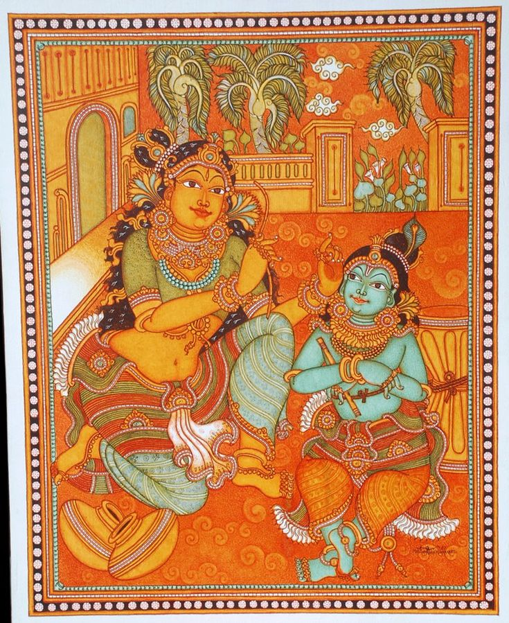 917 best murals images on pinterest kerala mural for Mural art of ganesha