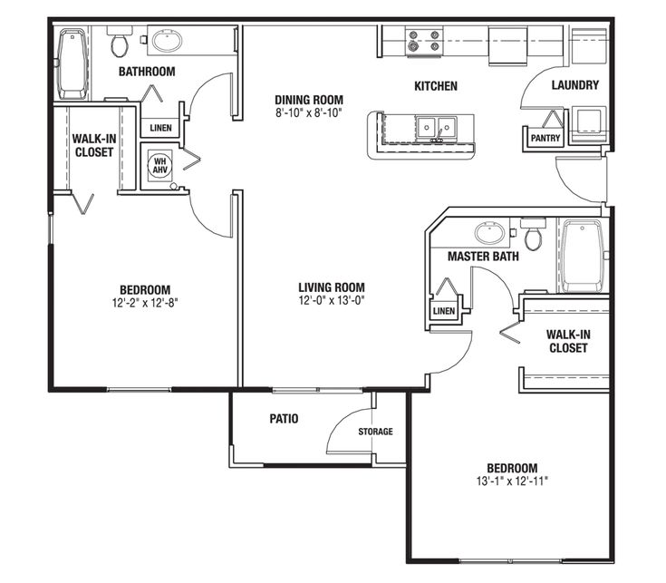 96 best house plans images on pinterest house blueprints for Master bedroom plans with bath and walk in closet