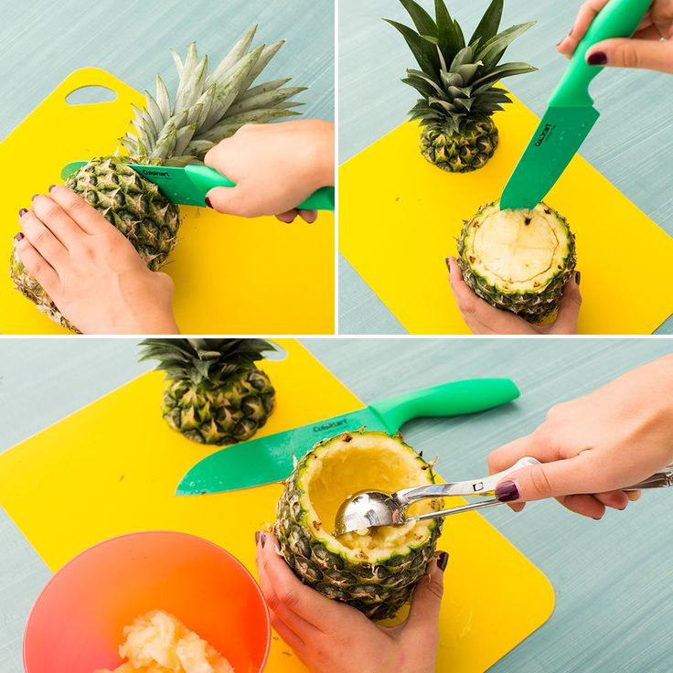 How to Carve Pineapple and Melon Jack-o'-Lanterns This Halloween via Brit + Co.
