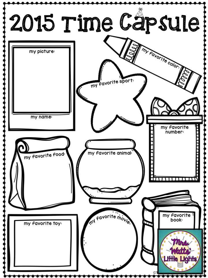 2015 Time Capsule - New Year's Activities/Printables $