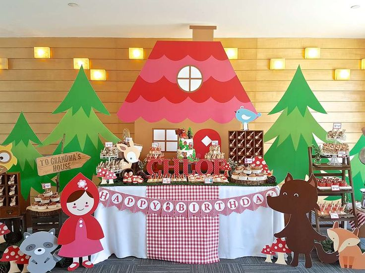 Wow! What a fantastic Little Red Riding Hood birthday party! See more party ideas at CatchMyParty.com!