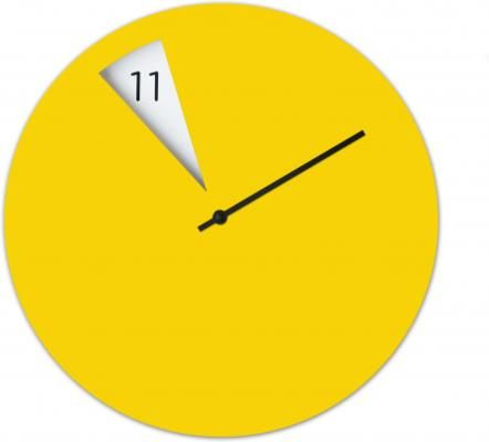 fun and funky this freakish wall clock in yellow will brighten up your room nicely