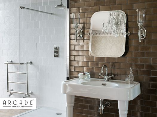 Creating a spa feel in your own bathroom is a big aim for a lot of people, get the look by adding large tiles to your design for a modern feel.
