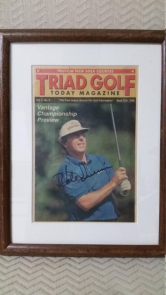 Hale Irwin Signed Autographed Triad Golf Magazine Cover