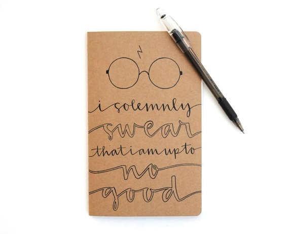 I love Moleskin journals. Love this HP one (: