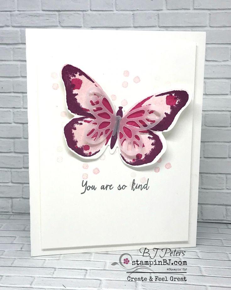 Watercolor Wings, Bold Butterfly Framelits, Butterflies Thinlits, #stampinBJ.com