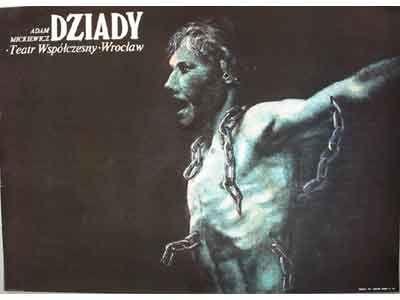 Dziady. Uitgave uit 1977.  Afmeting : 67 x 93. Uit de postercollectie van www.postersquare.com