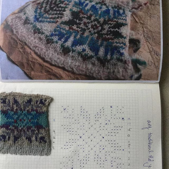 Going back to my love of #fairisleyoke #fairisleyoke #Fairisle #knittedyoke #colourblending