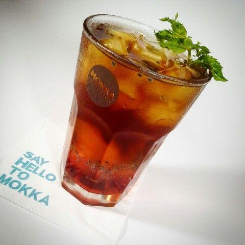 Ice rasberry jelly drink  from mokka coffee cafe.