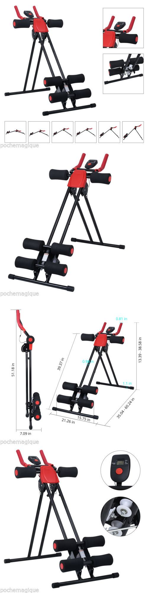 Abdominal Exercisers 15274: Ab Cruncher Abdominal Trainer Glider Rail Roller Smart Machine Home Exercise Gym BUY IT NOW ONLY: $71.99
