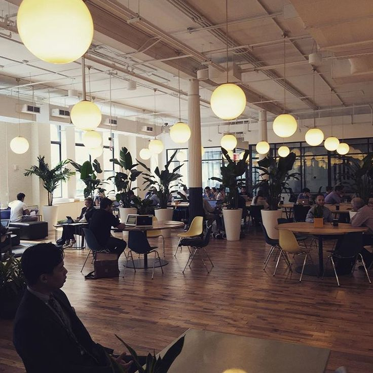 chelsea office space lounge. round overhead lighting in the large lounge space at our wework location on 18th street chelsea office