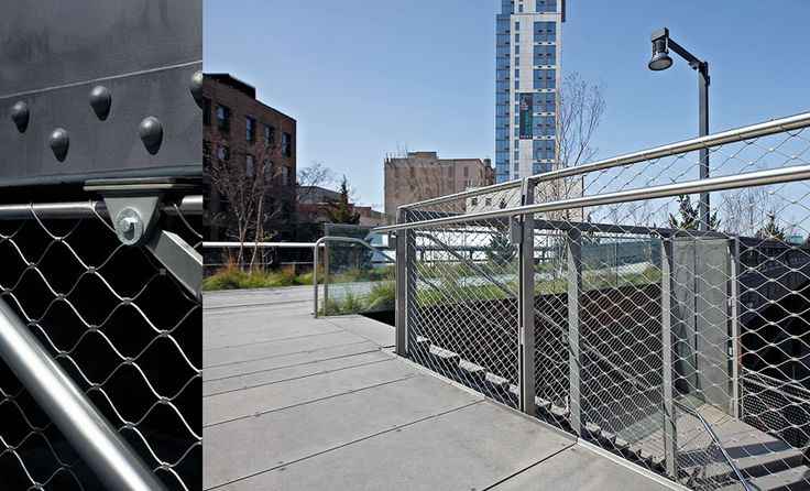 wire mesh guardrail - Google Search   Wire mesh, Stair ...