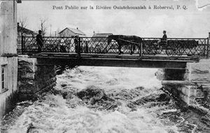 pont, rivière Ouiatchouane, Roberval, cheval