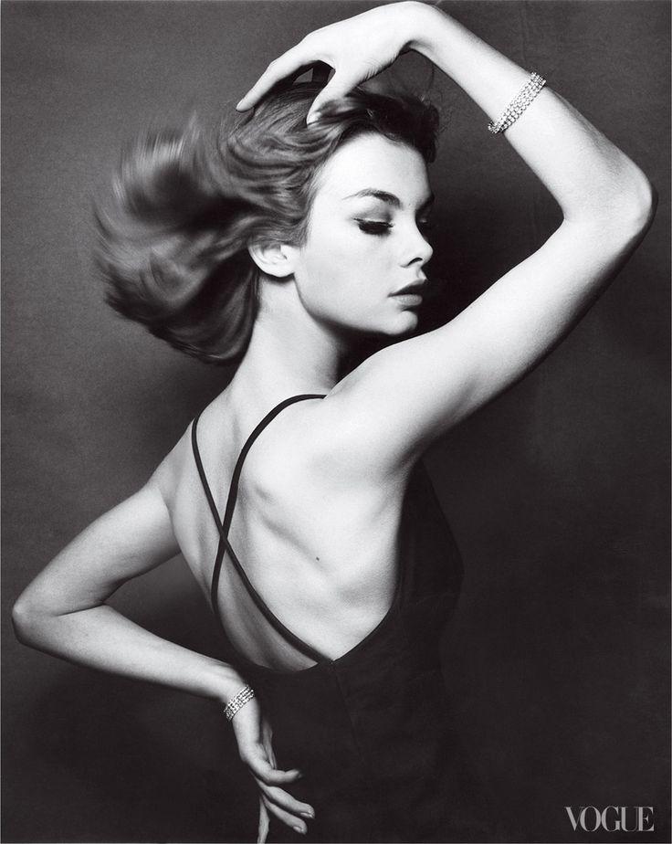 Jean Shrimpton    Photographed by David Bailey, Vogue, 1962
