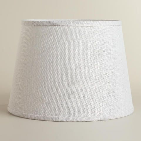 Marshmallow White Burlap Table Lamp Shade | World Market