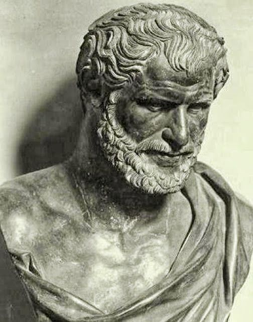 """Democritus (Abdera, Thrace, 460 BC): """"Nothing exists except atoms and empty…"""