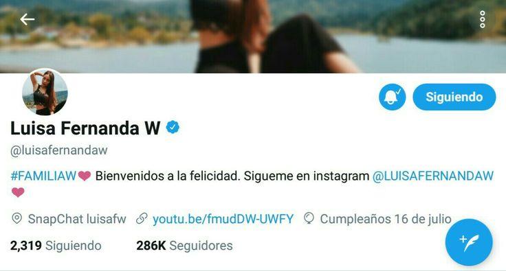 Échale un vistazo a Luisa Fernanda W (@luisafernandaw): https://twitter.com/luisafernandaw?s=09