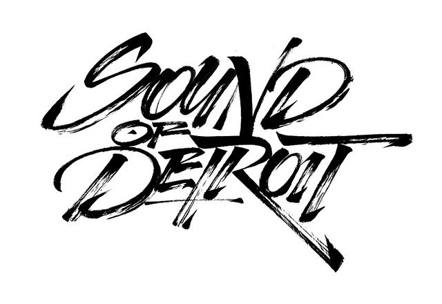 Carhartt SS 2011 - Sound of Detroit - chinese brush by Luca Barcellona - Calligraphy & Lettering Arts, via Flickr