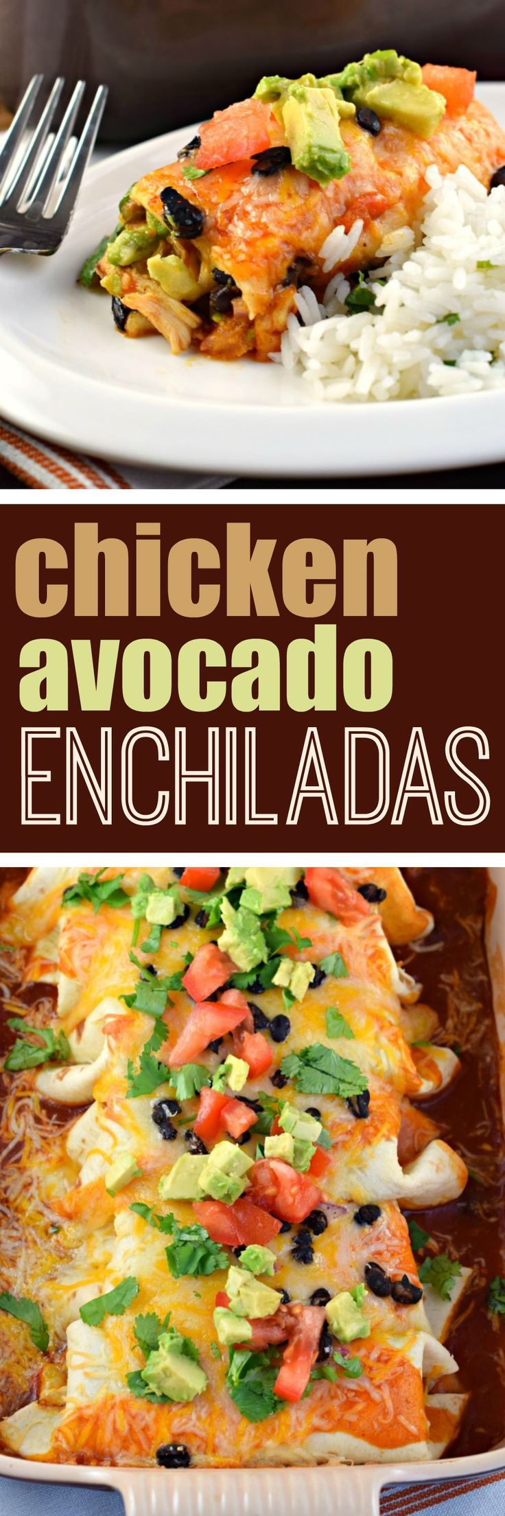If you're looking for a 30-minute meal idea, these Chicken Avocado Enchiladas are the answer! Packed with flavor and loved by all!