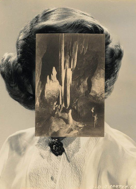 Mask V, collage, 2005 – John Stezaker's collages: maximum resonance with limited means: Observatory: Design Observer
