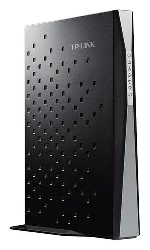 TP-Link - 802.11ac Wireless Dual Band Router with Docsis 3.0 Cable Modem - Black