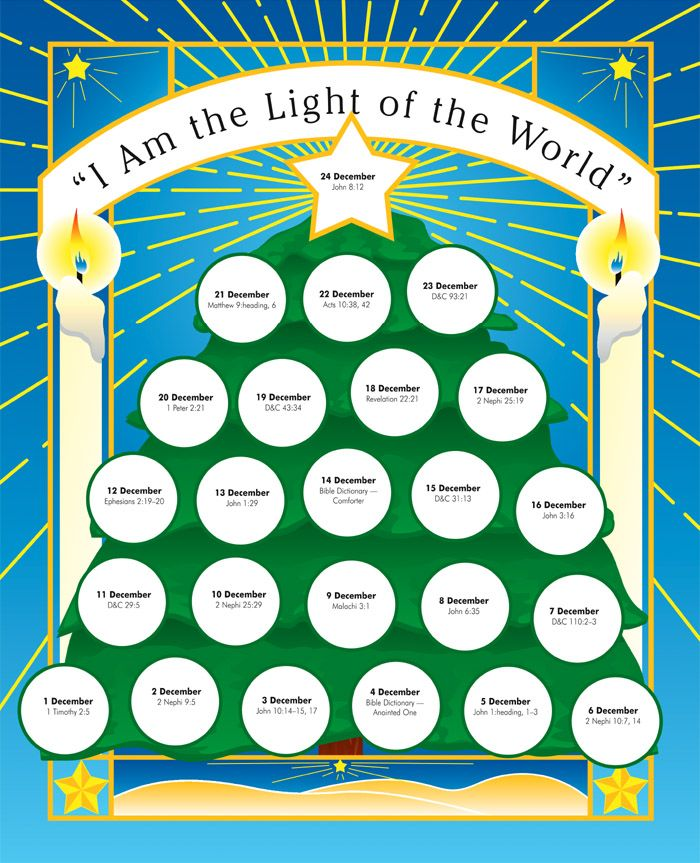 Light of the world christmas advent calendar - Pinterest wins again!  I have been searching for this!