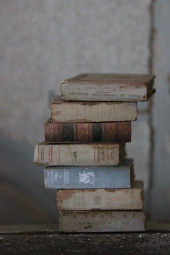 とても可愛い小さな古本  前回の洋書とは違った雰囲気で登場です        積み重ねた姿はやっぱり素敵 ...