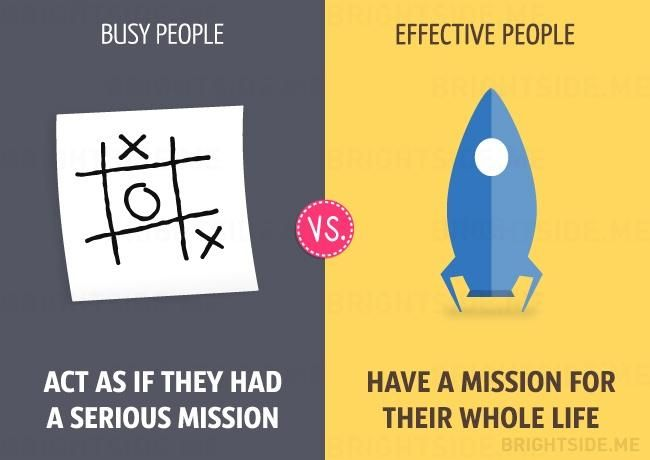 Pocket: 13differences between busy and effective people