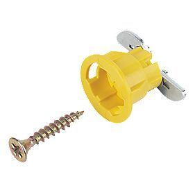 GripIt Yellow Plasterboard Fixings 15 x 20mm 8 Pack