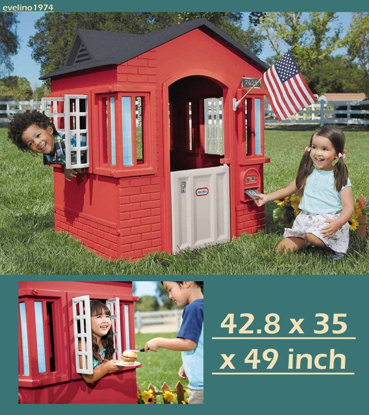 Little Tikes Cape Cottage,Playhouse,Child's/Kid House/Cabin/Nook,2Widows,Mailbox #LittleTikes