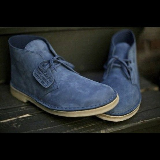 blue: Running Shoes, Desert Boots, Men Style, Menstyle, Ronnie Fieg, Clarks, Men Fashion, Men'S Fashion, Blue Su Shoes