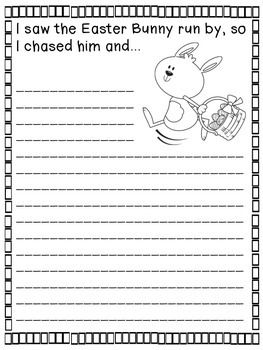 Easter Writing Prompts (3-5) - 14 different writing prompts to celebrate the Easter holiday! Use at a writing center, for morning work, or for writer's workshop. Hang for a festive bulletin board or make a class book!