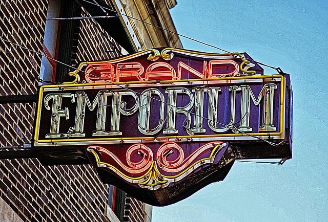 The Grand Emporium, blues bar, Main Street, Kansas City, Missouri.  An old haunt.