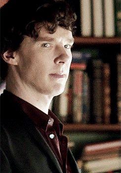 SHERLOCK (BBC) ~ The Sherlock wink. Benedict Cumberbatch as Sherlock Holmes. [Video/GIF]