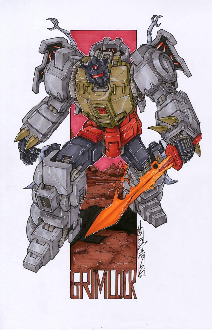 commission grimlock by *markerguru on deviantART - Transformers Autobot Dinobot