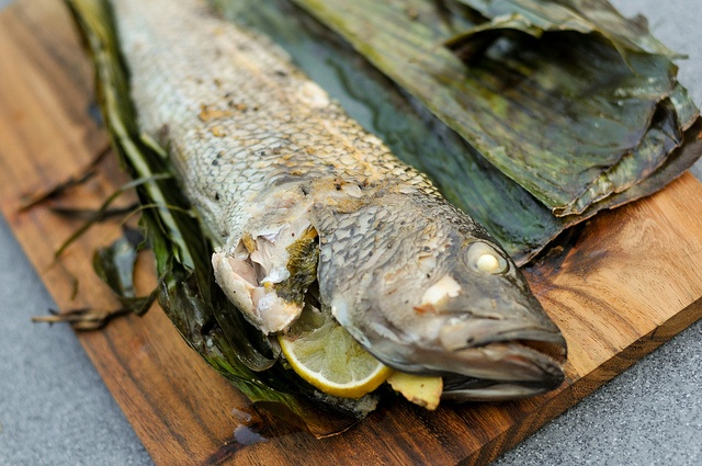 Grilled Vietnamese Stuffed Bass Wrapped in Banana Leaf Recipe :: The Meatwave