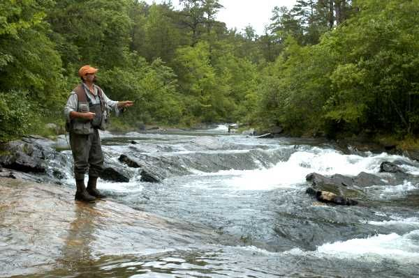 Ethan wright fly fishing guide at beavers bend state park for Oklahoma trout fishing
