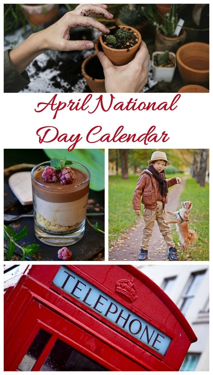 The list of national days in April is full of fun food, gardening and pet days.#aprilnationaldays #celebratetoday