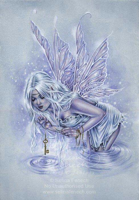Beautiful blue water fairy.