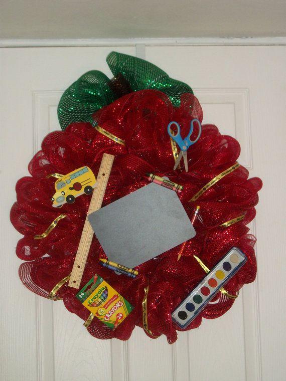Teacher Mesh Wreath