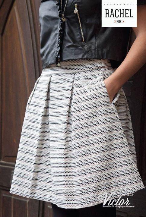 Rachel Skirt pattern in La Maison Victor Jan/Feb 2016